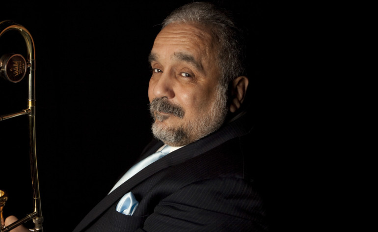 "Willie Colon poses for a portrait in Mexico City, Thursday, March 5, 2009. The salsa musician is promoting his newest work called ""El Malo Vol II: Prisioneros del Mambo,"" or ""The Bad One Vol. II: Prisoners of Mambo."" (AP Photo/Gregory Bull)"